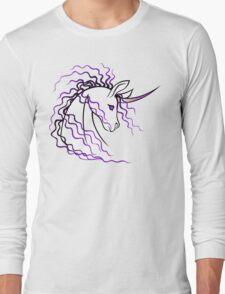 Ki-Rin (Japanese Unicorn) - Purple Long Sleeve T-Shirt