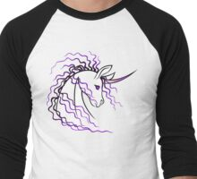 Ki-Rin (Japanese Unicorn) - Purple Men's Baseball ¾ T-Shirt