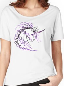 Ki-Rin (Japanese Unicorn) - Purple Women's Relaxed Fit T-Shirt