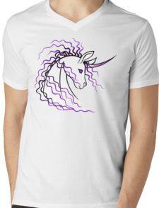 Ki-Rin (Japanese Unicorn) - Purple Mens V-Neck T-Shirt