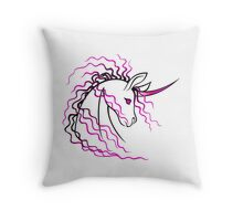 Ki-Rin (Japanese Unicorn) - Pink Throw Pillow