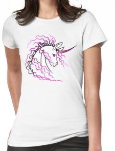 Ki-Rin (Japanese Unicorn) - Pink Womens Fitted T-Shirt