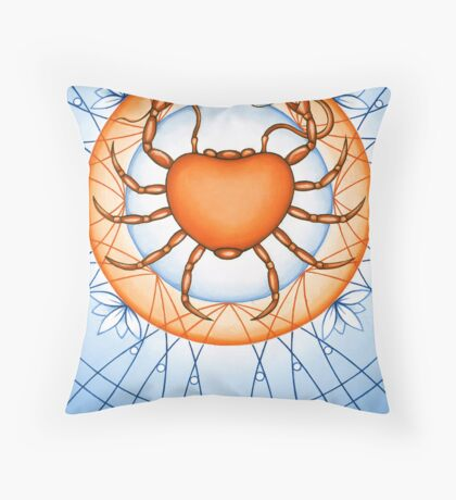 Cancer - Capture the world with wisdom. Throw Pillow