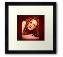 crouching tiger in gold Framed Print