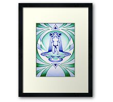 Aquarius - Let your cups fill oceans. Framed Print