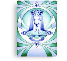 Aquarius - Let your cups fill oceans. Canvas Print