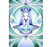 Aquarius - Let your cups fill oceans. Photographic Print