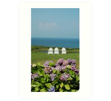 Block Island Sittin' Machines at the Spring House Art Print