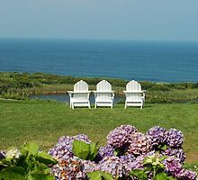 Block Island Sittin' Machines at the Spring House by Kim Knox Beckius