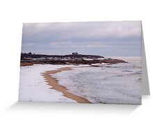 Winter At Ditch Plains Greeting Card