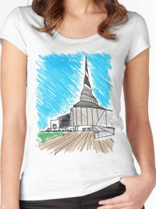 Community of Christ Temple Women's Fitted Scoop T-Shirt