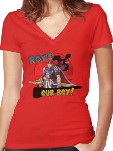 Roy's Our Boy! Women's Fitted V-Neck T-Shirt