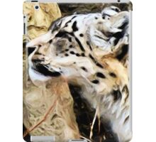 Snow Leopard Portrait iPad Case/Skin