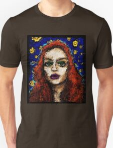 From the darkness she softly whispers. Unisex T-Shirt