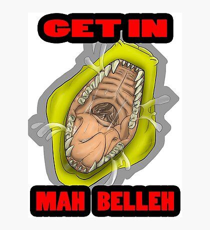 Get In Mah Belleh Yellow Photographic Print