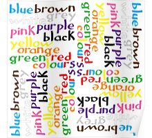 English colour words IV Poster