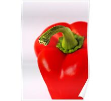 Red Pepper White background Poster
