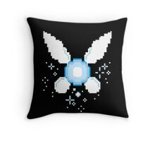 Hey Listen! Navy 8bit Fairy Pixel Art Throw Pillow