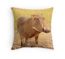 Warthog - Uganda Throw Pillow