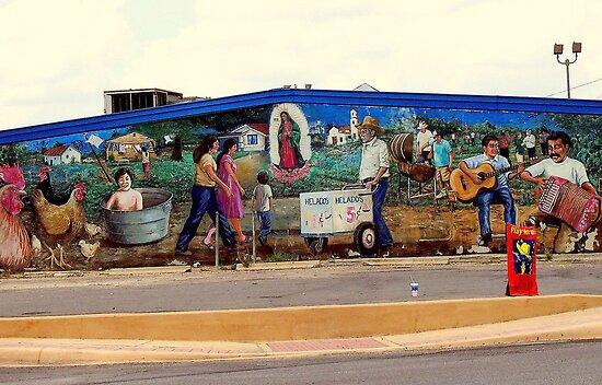San Antonio Street Mural by Brian Gaynor