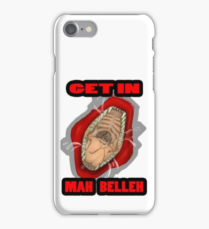 Get In Mah Belleh Red iPhone Case/Skin