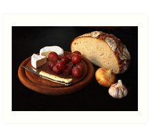 bread and cheese Art Print