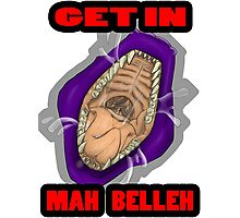 Get In Mah Belleh Purple Photographic Print