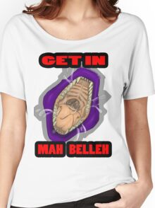 Get In Mah Belleh Purple Women's Relaxed Fit T-Shirt