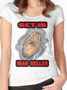 Get In Mah Belleh White Women's Fitted Scoop T-Shirt