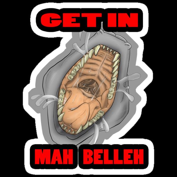 Get In Mah Belleh White by Gothyk