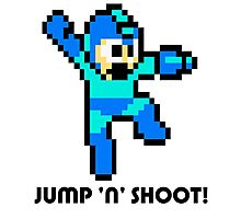 Megaman Jump full cover Photographic Print