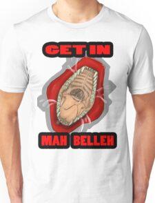 Get In Mah Belleh Red Unisex T-Shirt