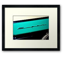 """Super"" Framed Print"