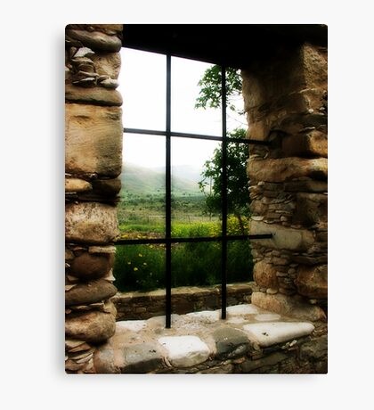 Window with a view.. Canvas Print