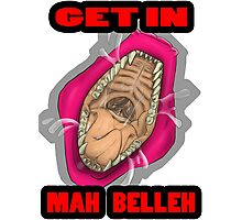 Get In Mah Belleh Pink Photographic Print