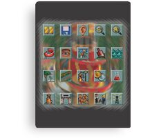 Roller Coaster Tycoon Icons Canvas Print