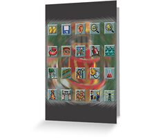 Roller Coaster Tycoon Icons Greeting Card