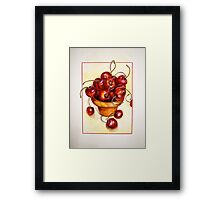 Cherries....Reaching Out Framed Print