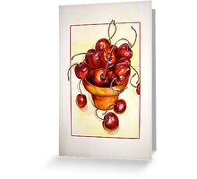 Cherries....Reaching Out Greeting Card