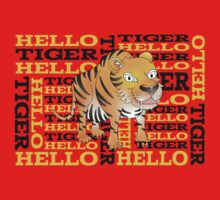 Hello Tiger One Piece - Short Sleeve