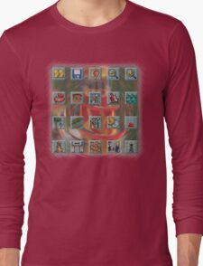 Roller Coaster Tycoon Icons Long Sleeve T-Shirt