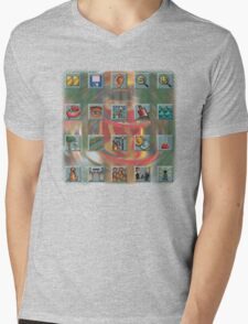 Roller Coaster Tycoon Icons Mens V-Neck T-Shirt