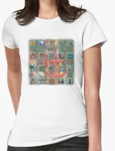 Roller Coaster Tycoon Icons Womens Fitted T-Shirt