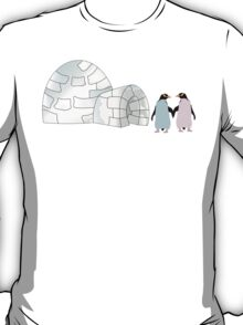 Pastel Penguins and Igloo T-Shirt