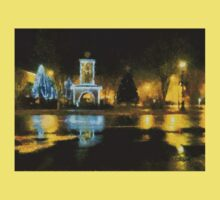 Town Square on December Night Kids Clothes
