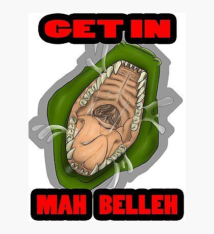 Get In Mah Belleh Green Photographic Print