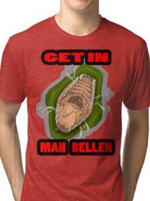 Get In Mah Belleh Green Tri-blend T-Shirt