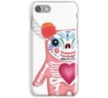 Pink Dia de los Muertos Monster  iPhone Case/Skin