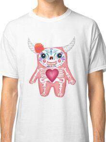 Pink Dia de los Muertos Monster  Classic T-Shirt