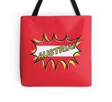 "Comic book ""KA-POW"" style Austrian flag  Tote Bag"
